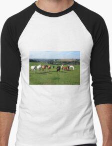 Rare Breeds Of Horses Men's Baseball ¾ T-Shirt