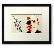 Hunter S. Thompson - The Banshee Screams for Buffalo Meat Framed Print