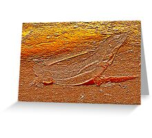Iguana in Bas Relief Greeting Card