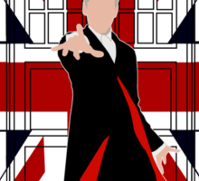 Union Jack British Flag with 12th Doctor Sticker