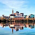 Hartford CT Skyline by Susan Savad