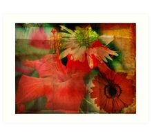 Floral Montage Series 6 Art Print