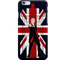 Union Jack British Flag with 12th Doctor iPhone Case/Skin
