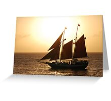 Sunset in Key West Greeting Card