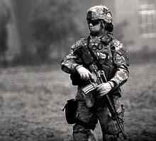 Female Soldier on Guard by siuwojo