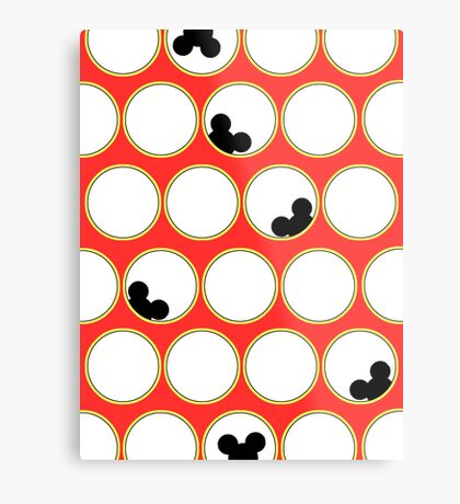 Peek-a-boo Mickey Metal Print