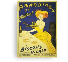 Amandines De Provence Biscuits - Classic Vintage Food Poster Canvas Print