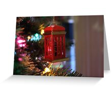 British Phone Box Greeting Card