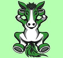 Horse Chilling Green and White  by Sookiesooker
