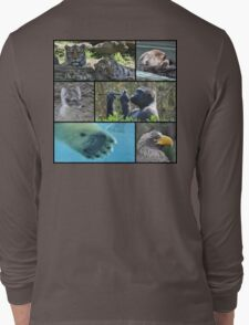 Wildlife Collage 1 Long Sleeve T-Shirt