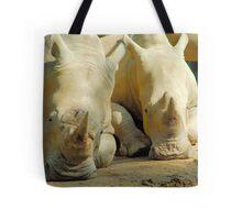 Resting Rhino Tote Bag