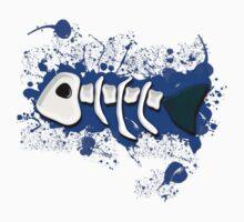 Blue Splat! Tee One Piece - Short Sleeve