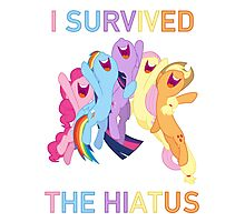 I Survived The Hiatus - MLP FiM - Brony Photographic Print