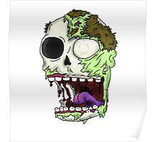 Zombie Skull Poster