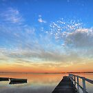 Dusk on Tuggerah Lake by Mike Salway