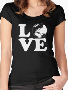 Love World Women's Fitted Scoop T-Shirt
