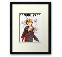 Shusei Kagari Psycho Pass  Framed Print