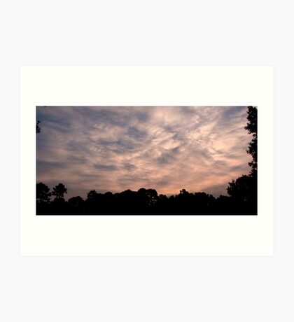 Patterns in the Sky Art Print