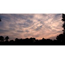 Patterns in the Sky Photographic Print