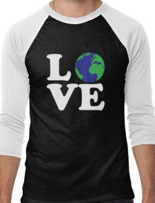 I Love World Men's Baseball ¾ T-Shirt