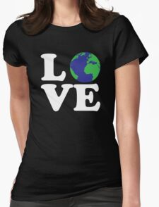 I Love World Womens Fitted T-Shirt