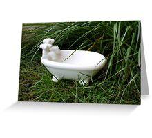 lil claw foot tub soapdish Greeting Card
