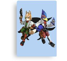 Fox and Falco Canvas Print