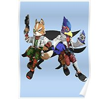 Fox and Falco Poster