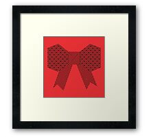 Red Fabric Bow Origami Framed Print