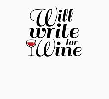 Will Write For Wine Womens Fitted T-Shirt
