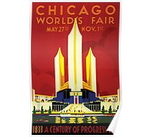 Chicago World's Fair 1933 Classic Vintage Poster Poster