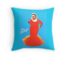 Divine in Pink Flamingos  Throw Pillow
