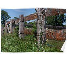Farm Fence Poster