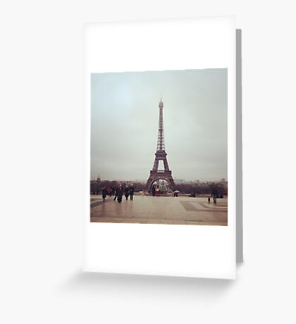 Beyond The Eiffel Tower Greeting Card