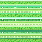 Happy St Patrick's Day Green Stripes Pattern by ArtVixen