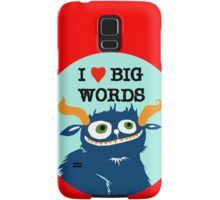 I *heart* Big Words Samsung Galaxy Case/Skin