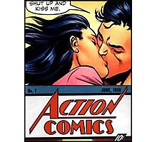 Superman Lois Lane Kiss Comic Book Photographic Print