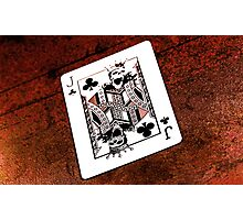 Jack of Clubs Photographic Print