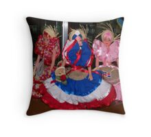 Traditional Dominican Dolls Display Throw Pillow