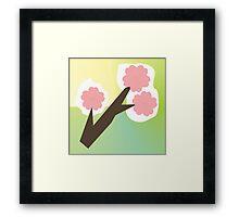 Cherry Blossom Branch Origami Framed Print