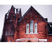 Church in Snowstorm, No. 1 Photographic Print
