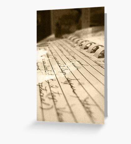 Secret Recipe. Greeting Card