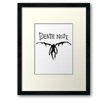 Death Note (Black) Framed Print