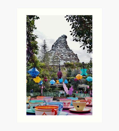 Teacups and Matterhorn Art Print
