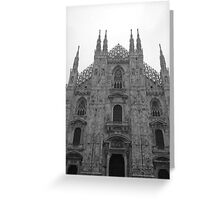 Rainy Day In Milan Greeting Card