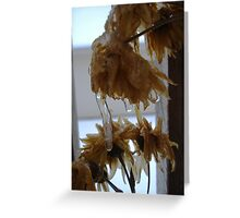 Frozen Flowers Greeting Card