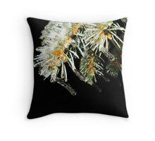Frozen Pine Tree Throw Pillow