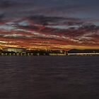 Canberra sky on fire by Kym Bradley