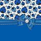 Fun Blue Ladybugs by purplesensation