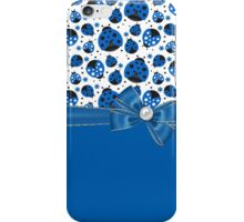 Fun Blue Ladybugs iPhone Case/Skin